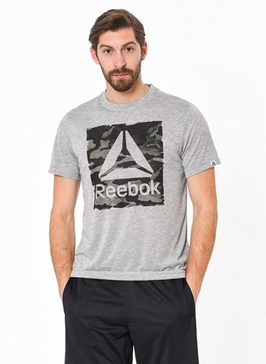 Reebok Baskılı Tişört Gri